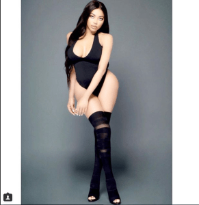 Singer, Dencia Looks Like Mannequin As She Poses In A Black Swimsuit (Photo)