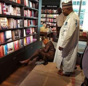 Governor Kashim Shettima Sits On The Floor Of A Library (Photos)