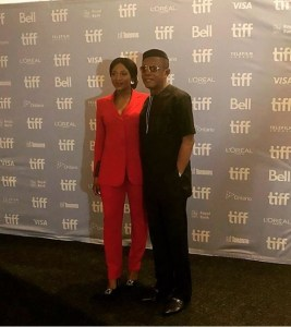 Genevieve Nnaji & Nkem Owoh Dazzle On The Red Carpet Of 'Lionheart' Premiere In Toronto (Photos)