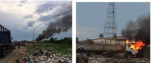 Dangote Trailer Set On Fire In Delta After Killing Three People. (Photos)