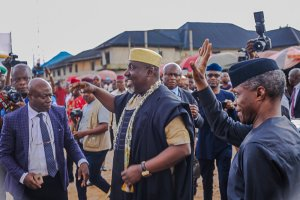Photos From Osinbajo And Okorocha Launch Of Trader Moni In Owerri