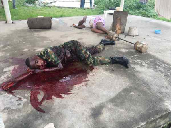 , Drunk Nigerian Soldier Kills A Fellow Soldier For Confronting Him (Graphic Photos), Effiezy - Top Nigerian News & Entertainment Website
