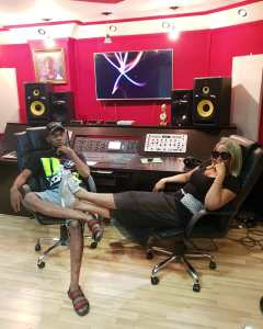 See Cute Photo Of Yemi Alade With Patoranking In The Studio