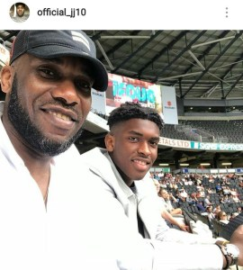 , Cute!!! Check Out Jay-Jay Okocha And His First Son (Photos), Effiezy - Top Nigerian News & Entertainment Website