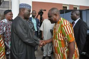 Atiku Abubakar Personally Visits Wike After He 'Stormed Out Of PDP convention Venue'. (Photos)