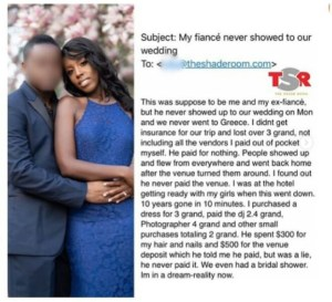 Lady Abandoned On Her Wedding Day By Her Partner Of 10Yrs Cries Over Unpaid Bills