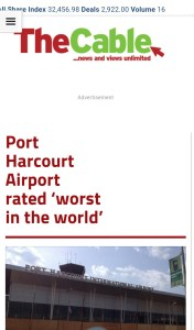 Port Harcourt Airport Named 'Worst Airport In The World 2015′ [Throwback]