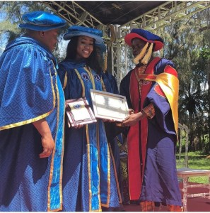 , BBnaija's Anto Lecky Conferred With Honorary Doctorate Degree By ISCOM University, Cotonou, Effiezy - Top Nigerian News & Entertainment Website