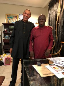 Ben Bruce congratulates his replacement, Hon. Izagara as he emerges PDP candidate for Bayelsa East