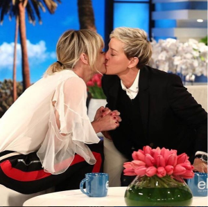 Ellen DeGeneres and wife, share kiss to celebrate National Coming Out Day