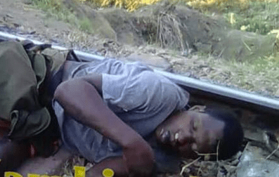 , Hoodlums Throw Man Onto Rail Tracks Where Train Cut Off His Legs (Graphic Photos), Effiezy - Top Nigerian News & Entertainment Website