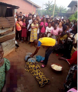 Ritualists behead, harvest lady's vital organs in front of her house