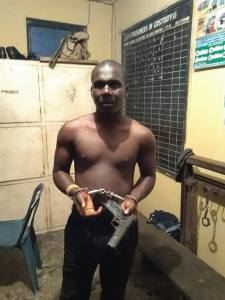 Notorious Cultist Arrested With Loaded Pistol After Shooting At PDP Event In Bayelsa. (Photo)