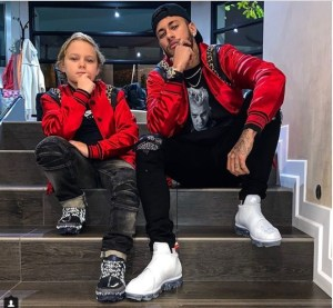 Neymar And Son, Pose In Matching Outfits (Photo)