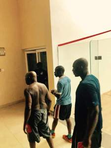 , Shirtless Olusegun Obasanjo Playing Squash With His Son, Olujonwo (Photos), Effiezy - Top Nigerian News & Entertainment Website