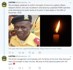 SARS Officer Shoots LASTMA Official Dead In Lagos (Graphic Photos)