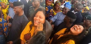 Toyin Abraham Spotted With Osinbajo For Tradermoni in Ibadan; Fans slams her