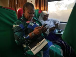 Nigerians Reacts As Oby Arrives Kaduna On Buhari's Train To Begin Campaign (Photos)