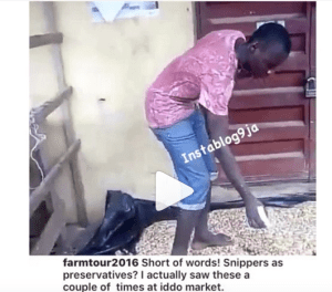 """HUH!! Beans sellers apply """"Sniper Insecticide"""" on beans in Lagos (Video)"""