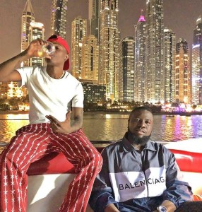 Gucci Master, Hushpuppi Hangs Out With Wizkid In Dubai (Video)