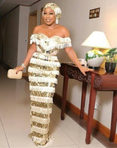 Check Out Rita Dominic's Outfit To 'Chief Daddy' Movie Premiere (Photo)