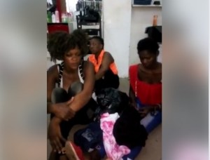 Three Ladies Disgraced After They Were Caught Stealing In A Boutique In Uyo