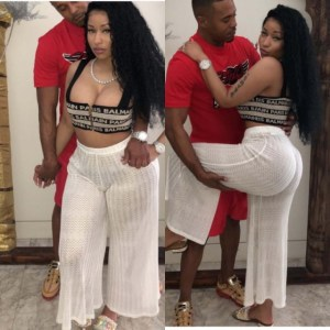 Nicki Minaj's boyfriend tattoos her name on his neck (Photo)