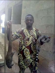 Check out this UNIBEN graduate & MSc holder who is a hunter (Photo)