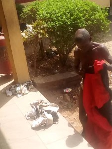 Man Caught With Female Pants And Soaked Sanitary Pad In Ondo (Photos)