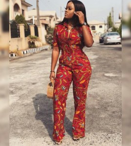 BBnaija's Cee-C Looks Hot As She Steps Out In Ankara Jumpsuit. (Photos)