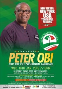 Peter Obi To Represent Atiku In A Town Hall Meeting In US