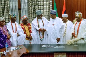 , Buhari Meets With Traditional Rulers From The South West. (Photos), Effiezy - Top Nigerian News & Entertainment Website