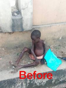 Young Boy Abandoned By His Parents After Being Accused Of Witchcraft. (Photos)