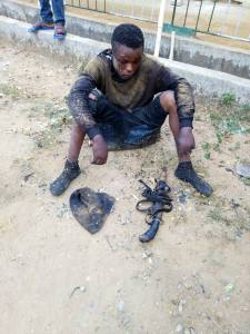 Young Gang Member Caught During Robbery Operation In Rivers. (Photos)