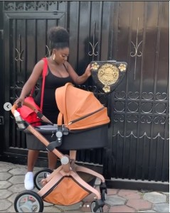 Actress Yvonne Jedege Steps Out With Her Newborn Baby Boy (Photos)