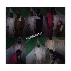 Corpse Made To Stand Straight To Snap With Family In Osun (Photo)
