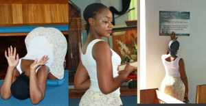 See how a Booty endowned lady narrates how she spent her day in the Church (Photos)