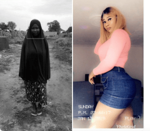 """WOW!! #10yearchallenge: """"From Sambisa Forest To Lekki"""" – Lady Shocks Twitter Users With Her Transformation"""