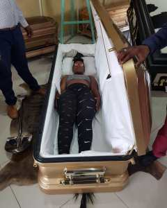 Pantless Dancer, Zodwa Buys Her Coffin Ahead Of Her Death (Photos)