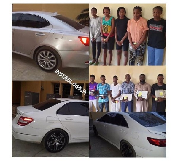 , 11 Yahoo Boys And Girls Arrested In Ilorin (Photos), Effiezy - Top Nigerian News & Entertainment Website