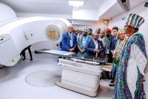 Buhari Commissions Cancer Treatment Center In LUTH, Lagos