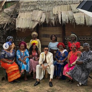 Singer, Tekno Surrounded By 10 Women During Video Shoot