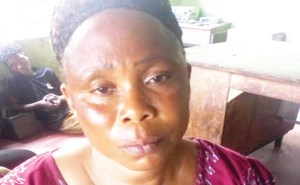 Woman Caught Dumping Lover's Corpse In A Bush In Ogun State (Photo)
