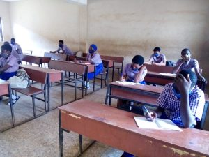 Schools reopen in Oyo as student comply with covid-19 protocol.