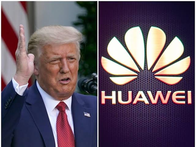 , Trump claims credit for making UK ban Huawei., Effiezy - Top Nigerian News & Entertainment Website