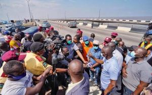 Sanwo-Olu inspects works on Third Mainland Bridge, urges commuters to be patient