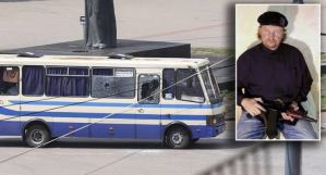 Ukraine gunman holds bus hostage with 20 people, releases three of his bus hostages in Lutsk.