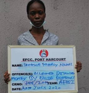 EFCC arraigns Ikogwe Mercy over N179m fraud