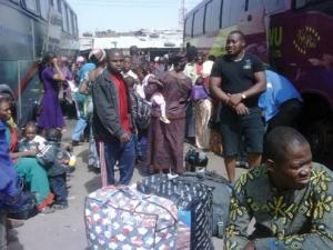 150 passengers arrested, for violating restriction movement in Lagos.