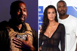 Kanye West fires another attack on Kim Kardashian.